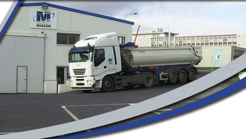 Transport Migeon, camion benne